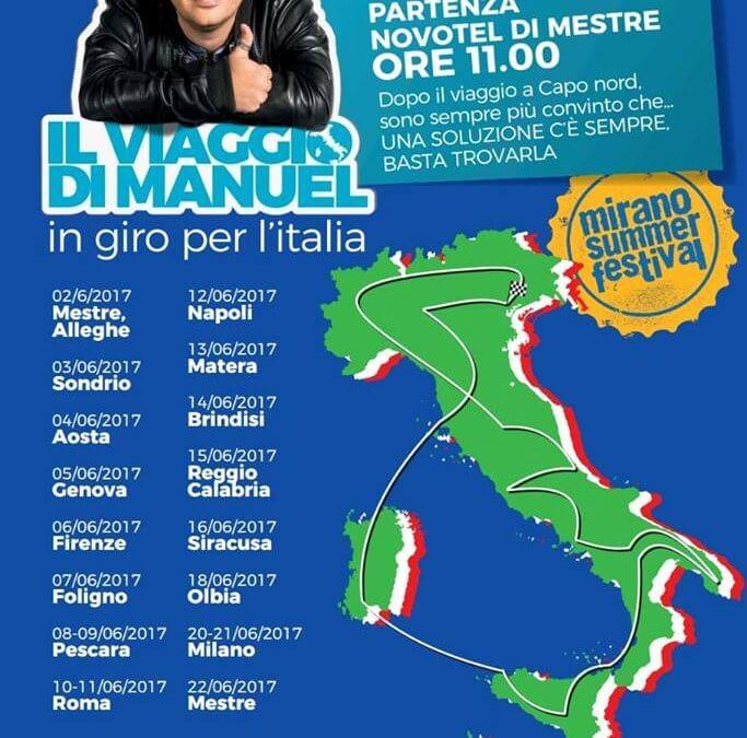 Il viaggio di Manuel in giro per l'Italia